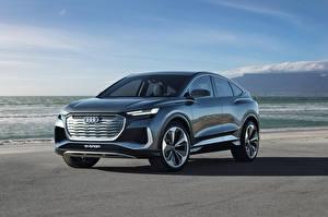 デスクトップの壁紙、、アウディ、クロスオーバー、メタリック塗、Q4 Sportback e-tron Concept, 2020、自動車
