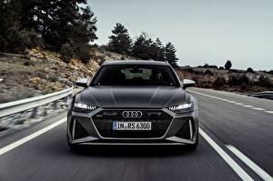 Fotos & Bilder Audi Bewegung Bokeh Vorne Grau Kombi rs6 avant, 2019 Autos