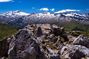 Bilder Österreich Gebirge Steine Alpen Felsen Salzburg, Ankogel Natur