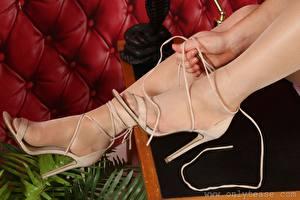 Hintergrundbilder Hautnah Hand Bein Stöckelschuh Strumpfhose