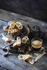 Photo Coffee Baking Matricaria Wood planks Highball glass Food
