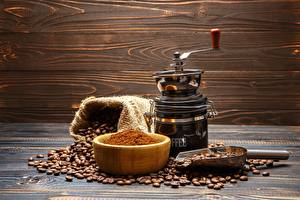 Desktop wallpapers Coffee Coffee mill Grain Table Bowl Food