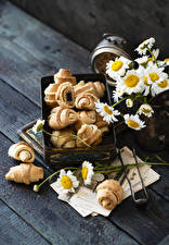 Picture Croissant Camomiles Boards Food