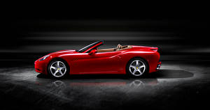 Pictures Ferrari Roadster Red Metallic Side