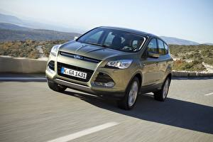 Picture Ford Moving Front Gray CUV Metallic Kuga II 2013 automobile