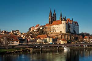 Hintergrundbilder Deutschland Fluss Gebäude Kathedrale Burg Türme  Städte