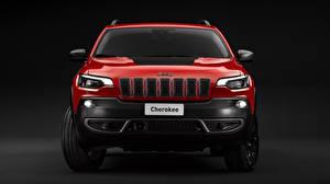 Fotos Jeep SUV Rot Metallisch Vorne Cherokee, Trailhawk, 2019 auto