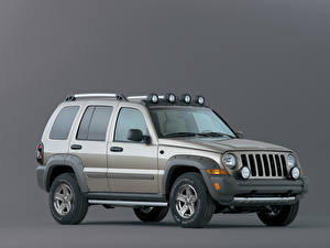 Fotos Jeep Sport Utility Vehicle Graue Metallisch Grauer Hintergrund Liberty Renegade, 2004-2006 auto