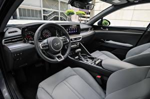 Bakgrunnsbilder KIA Salons Bil ratt K5 EX North America, 2020 bil