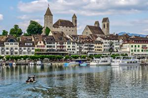 Pictures Lake Castle Switzerland Riverboat Castle Rapperswil, Rapperswil-Jona, lake Zurich Cities