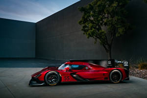 Tapety na pulpit Mazda Formula 1 Tuning Czerwony Widok z boku 2017 RT24-P Sport