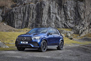 Wallpapers Mercedes-Benz Blue Metallic 2020 AMG GLE 53 4MATIC auto