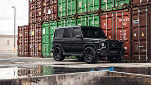 Image Mercedes-Benz G-Wagen Sport utility vehicle Black G63 AMG, 2017 automobile