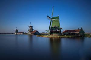 Pictures Netherlands Sky Windmill Canal Museum Zaanse Schans Nature