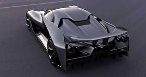 Pictures Nissan Back view Metallic Black 2020, Vision Gran Turismo Cars