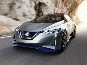 Fondos de escritorio Nissan La velocidad Plata color Fondo borroso Metálico Leaf Rumors, 2020 Coches