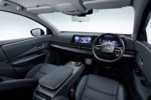 Fonds d'écran Nissan Salons Crossover Volant directionnel Ariya e-4orce JP-spec, 2020 Voitures