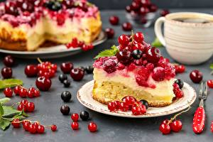 Wallpaper Pie Berry Currant Cherry Pieces