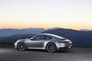 Pictures Porsche Side Silver color Metallic Coupe 911, Carrera 4s, 2019 auto