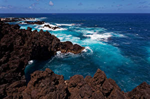 Fotos Portugal Küste Ozean Felsen Madeira