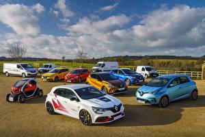 Bakgrundsbilder på skrivbordet Renault Många bil