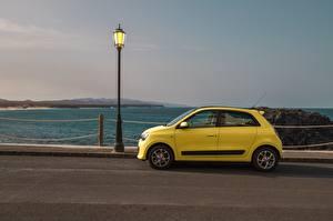 Papel de Parede Desktop Renault Revérbero Lateralmente Amarelo Twingo Concept, 2019 carro
