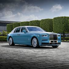 Images Rolls-Royce Light Blue Metallic Luxury Phantom 2019 Cars