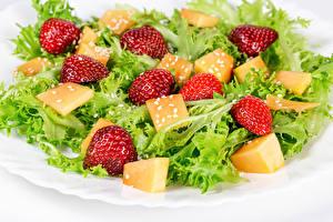 Bilder Salat Gemüse Erdbeeren Lebensmittel