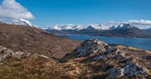 Images Scotland Mountain Stones Bealach Na Gaoithe Nature