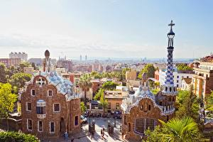 Wallpaper Spain Parks Barcelona Gaudi Park Cities