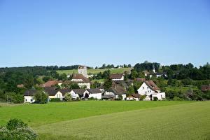 Bilder Schweiz Acker Gebäude Dorf Aarwangen, Canton Bern Städte