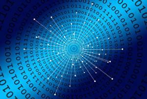 桌面壁纸,,质感,蓝色,Binary code,