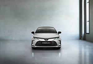 Images Toyota Front White Metallic Corolla Hybrid Sedan GR Sport, 2020 automobile