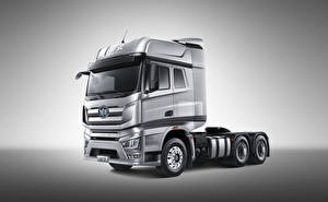 Picture Lorry Silver color Side Gray background FAW Jiefang J7 Eagle 6x4 Tractor, 2017-2020 auto