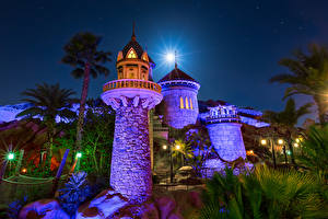 Picture USA Disneyland Parks Castles California Night Design Tower