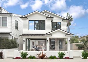 デスクトップの壁紙、、アメリカ合衆国、住宅、カリフォルニア州、邸宅、デザイン、Newport Beach、都市