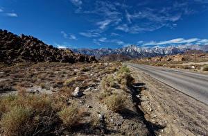 Bilder USA Wege Gebirge Stein Himmel Kalifornien Mount Whitney, Whitney Portal road Natur