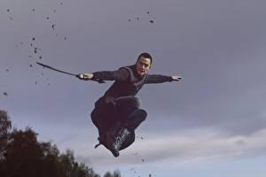 Pictures Warriors Man Asian Jump Swords Daniel Wu, Into the Badlands film