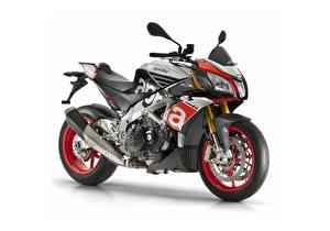 Tapety na pulpit Aprilia Tuning Białe tło 2015-18 Tuono V4 1100 Factory motocykl