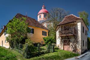 Bilder Österreich Haus Kirche Kuppeln  Städte