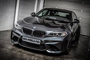 Wallpaper BMW Grey Metallic Coupe 2-Series F87 Cars