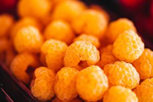 Hintergrundbilder Beere Himbeeren Viel Großansicht Gelb Unscharfer Hintergrund Lebensmittel