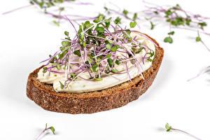 Hintergrundbilder Butterbrot Brot Weißer hintergrund Microgreen das Essen