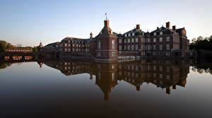 Fotos Burg Teich Deutschland Spiegelung Spiegelbild Nordkirchen Palace, North Rhine-Westphalia Städte