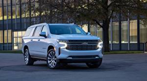 Images Chevrolet White SUV Front Metallic Suburban, 2020 Cars