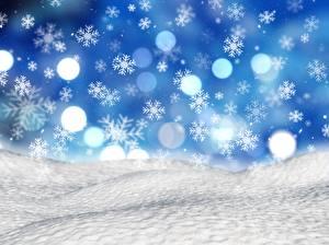 Hintergrundbilder Neujahr Schneeflocken Schnee
