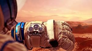 Papel de Parede Desktop Relógio Relógio de pulso Marte Luva Konstantin Chaykin, Mars Conqueror