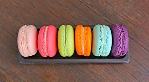 Wallpapers Closeup French macarons Multicolor
