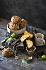 Pictures Coffee Baking Buns Apples Boards Mug