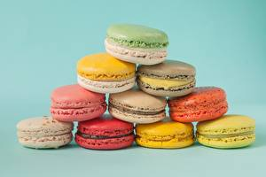 Wallpapers Cookies Macaron Colored background